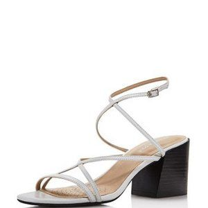 KENNETH COLE WHITE NEW YORK MAISIE LEATHER Sandals